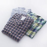 Wholesale Foreign trade day single summer men s cotton pajamas suits tracksuit sitting two short sleeved pants suit breathable loose