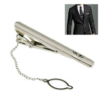 clip tie clip - New Simple Necktie Tie Clasp Clip Gentleman Metal Silver Tone Girl Fashion BS88