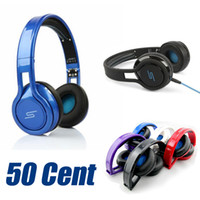 Wholesale SMS Audio SYNC Wired STREET by Cent Headphone For Phones Laptop MP3 MP4 Computer iPad iPod Tablet Best Value Headset Sport Earphones