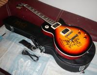 Wholesale op quality Tiger maple Top humbucker pickup LP Slash signature tobacco burst electric guitar with Hard case