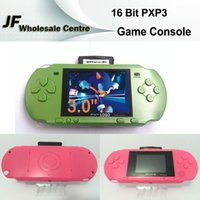 Wholesale SEGA Bit MD PXP3 Inch HD LCD Screen Portable Handheld Game Players Consoles Built In SNES SFC With Video Games Kids Gift