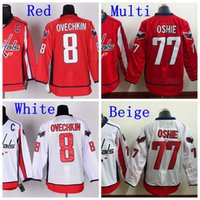 alex ovechkin jersey - 2016 Men s Washington Alex Ovechkin C Patch Jersey TJ Oshie Red White Stitched Ice Hockey Jerseys