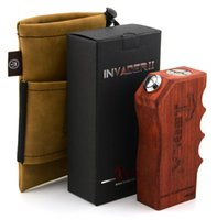 authentic wood - Authentic KingZone Tesla Invader II Box Mod Using Batteries Wood Mod for TESLA DII Atomizer Arectic Aspire Atlantis Clearomizer