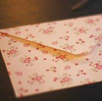 Wholesale Retro Vintage Tiny flowers Paper Envelopes Cute Cartoon Kawaii Paper Korean Stationery Gift