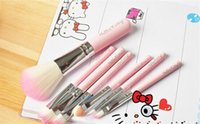 Wholesale 2015 Big Discount Hello Kitty makeup brushes professional a cosmetic brush sets makeup tools suit