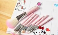 big makeup kits - 2015 Big Discount Hello Kitty makeup brushes professional a cosmetic brush sets makeup tools suit
