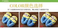 Wholesale New Despicable ME Plush Slippers Minions Plush Stuffed Slippers Cartoon winter slippers Cartoon slippers Jorge Dave Stewart