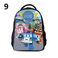 Wholesale Robocar Poli School Bags Robocar Poli backpacks Robocar Poli Schoolbags Cartoon Schoolbag D schoolbag Leisure backpacks For Children H0626b