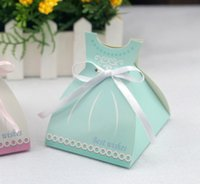 Wholesale 8 cm Wedding Favor Candy Boxes Baby s Day Out Candy Boxes Paper Candy Boxes Wedding Party Favors Gift In Stock White