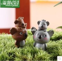 Wholesale 50pcs mini microlandschaft cute craft cozy garden Koala micro landscape cartoon koala mother and small ornaments toys