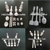 Wholesale 2015 New Ceramic nail mm mm mm mm mm Double Jointed Adjustable Ceramic Nail for glass bongs water pipes
