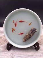Wholesale 100 Handmade D Ceramics Resin Golden Fish Simulation Painting Incense holder With Gift Japanese Novelty