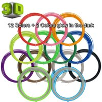 Cheap 10m Pack 3D Printer Filament ABS 1.75mm Plastic Rubber Consumables Material 3D Print Pen Supplies hight quality E233L