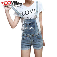 bib overall shorts womens - 1510 Summer Denim Rompers Womens Jumpsuit Shorts women Bib Denim Ripped Jeans Plus Size romper Jeans Overalls For Women shorts