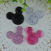 Wholesale 100pcs mm bling resin Mickey Mouse flatback cabochon for scrapbooking Girl Hair Bow Center Crafts Making DIY