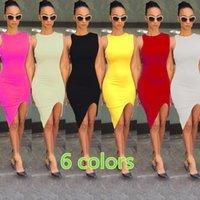 Wholesale 2016 Lady new fashion sexy slim dress club split package hip dress bodycon Dress