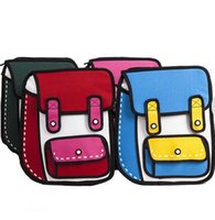 bag taiwan - Backpack Taiwan _ explosion of two dimensional Comic Pack D stereo D backpack backpack bag bag tide of male and female