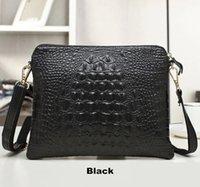Wholesale New Promotion fashion Genuine Leather Crocodile pattern Women Handbag Shoulder Bag female Messenger Bag ladies Day Clutch