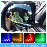 arrow yellow - New SMD LED Arrow Panel For Car Rear View Mirror Indicator Turn Signal Light c156