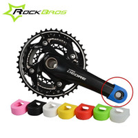 Cheap ROCKBROS Crankset Crank Protective Sleeve Protector Mountain Bike Road Bike Fixed Gear Bicycle Crank Protective Cover 8 Colors