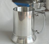 beer tankard metal - 16OZ Double Wall Stainless Steel Tankard stainless steel beer mug