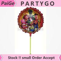 balloon stories - New arrivel cm toy story balloon with stick Aluminium foil cartoon balloon
