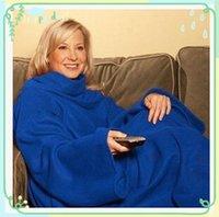 4 colores 2015 de la venta caliente súper blando Fleece Blanket SNUGGIE Manta manga Wearable mantener el calor y la mano manta usable 50pcs CCA1835
