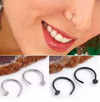 Wholesale 1 Piece Stainless Steel Nose Open Hoop Ring Earring Body Piercing Jewelry