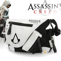 Wholesale Assassins creed Bags Canvas leather Chest Assassins creed Package Messenger Shoulder Bag Casual Running Outdoor Back Pack