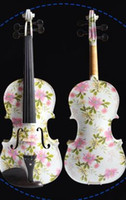 Wholesale 2015 Fashion New Design Colorful Painted Violins Handmade Student Violin With free fittings and violin case