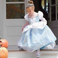 Wholesale 2016 Cinderella princess dress dress frozen princess Cinderella wearing short sleeve tutu skirt girl wearing dresses