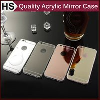 Wholesale Luxury Acrylic Mirror TPU Case For iPhone Pro S S Plus GALAXY S6 S7 Edge Note Dustproof Back Cover DHL