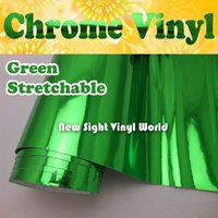 Wholesale High Quality Stretchable Flexible Chrome Green Car Vinyl Wrap For Car Wrapping Air Free Bubble Size M Roll ft x ft