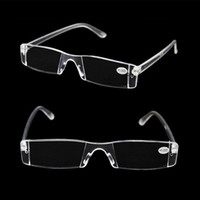 Wholesale White Reading Glasses Clear Rimless Eyeglasses Presbyopia Diopter