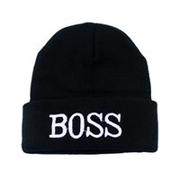 Wholesale New Coming Casual Letter Printed Black Acrylic Elastic Beanies Hats For Men And Women