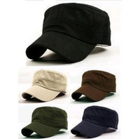Wholesale Fashion Womens Men Caps Military Hats Sport Solid Color Snapback Hat Sun shade Unisex Colorsl Sun Hat Army Hat G4031