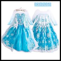 Cheap cartoon girls dress Best frozen clothing