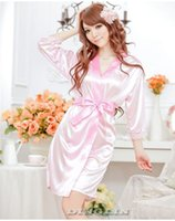 Wholesale Womens Ladies Open Front Sexy Lingerie Set Robe Pajamas Nightgown Sleepwear Costume Thong Underwear Chemise
