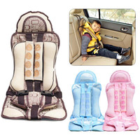 Wholesale New Car Seat Cover Child Safety Seat Portable Kids Baby Car Seat Comrtable Adjustable Safe Cushion for Years Children