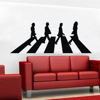 beatles groups - New Anime Great Singer Group Beatles Graftti Vinyl Lettering Art Decal Poster Removable Wall Sticker Home Decor Decal Muscial