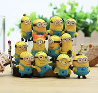 Wholesale Anime Cartoon Despicable Me Minions PVC Action Figures Toys Dolls set Christmas Gifts by DHL