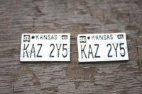 al por mayor colgantes sobrenaturales-6pcs - KAZ 2Y5 encanto, Plata tibetana sobrenatural placa matrícula colgantes 25x15mm
