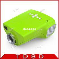 Wholesale NEWEST Portable Projector mini E03 projector LED Support p Home Education USB VGA AV TV HDMI DVD Player Remote Control