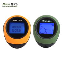 Wholesale Handheld Keychain Mini GPS Navigation USB Rechargeable with Digital Compass for Outdoor Sport Travel Green Yellow PG03