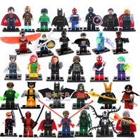 Wholesale Hot Christmas Gift High Quality Mini Figures set avengers super hero ironman batman Building Blocks toys birthday gift Free Ship
