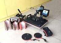 t-shirt printing machine - 8 in Combo Heat Press Machine Thermal Transfer Machine Sublimation Machine for Cap Mug Plate T shirt Printing