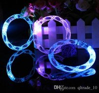 Wholesale 2015 New Hot Sale New Acrylic glow bracelets flash hand ring luminous crystal Led bracelet concert christmas LED toys LJJH141