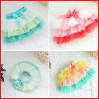 TuTu animal tiered skirt - Hot Sale Girls Spring Summer Chiffon Bow Ruffle Skirt Girls Colorful Tutu Skirt Kids Tull Tiered Butterfly Cake Skirt Colors Choose