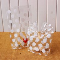 Wholesale White Polka dot Transparent Cookies Bags Cellophane Bag Candy Bags