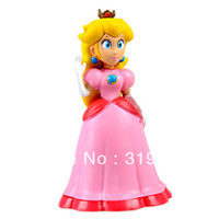 age mario - Retail Fashion FS Super Mario Bro Brother Princess Peach PVC quot Figure Toy Loose